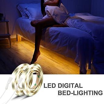 Iwilcs Bett Licht 2 120cm 12v Dc Led Streifen Licht Automatisch
