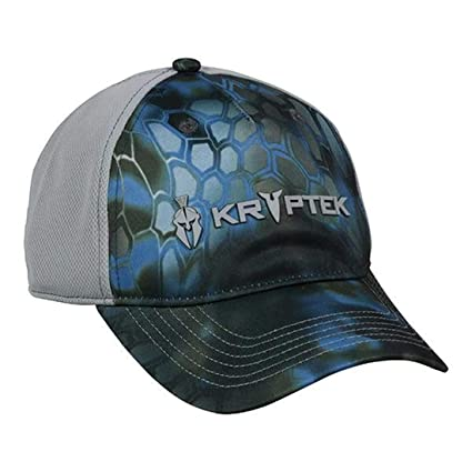 e4fff2c8be5 Image Unavailable. Image not available for. Color  ocg Kryptek Neptune Blue  Grey Snakeskin Camo Quick Dry Hunting Fishing Outdoor Cap Hat