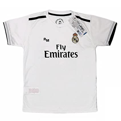 475bb6490 Real Madrid FC Camiseta Infantil Réplica Oficial Primera Equipación 2018  2019 (0 Años)