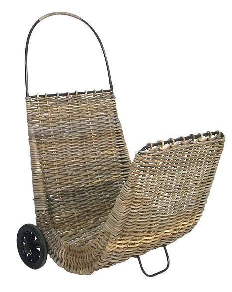 Carrito para leña con ruedas (poelet