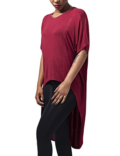 Urban Classics Ladies Viscose Oversized Hilo Tee, T-Shirt Donna