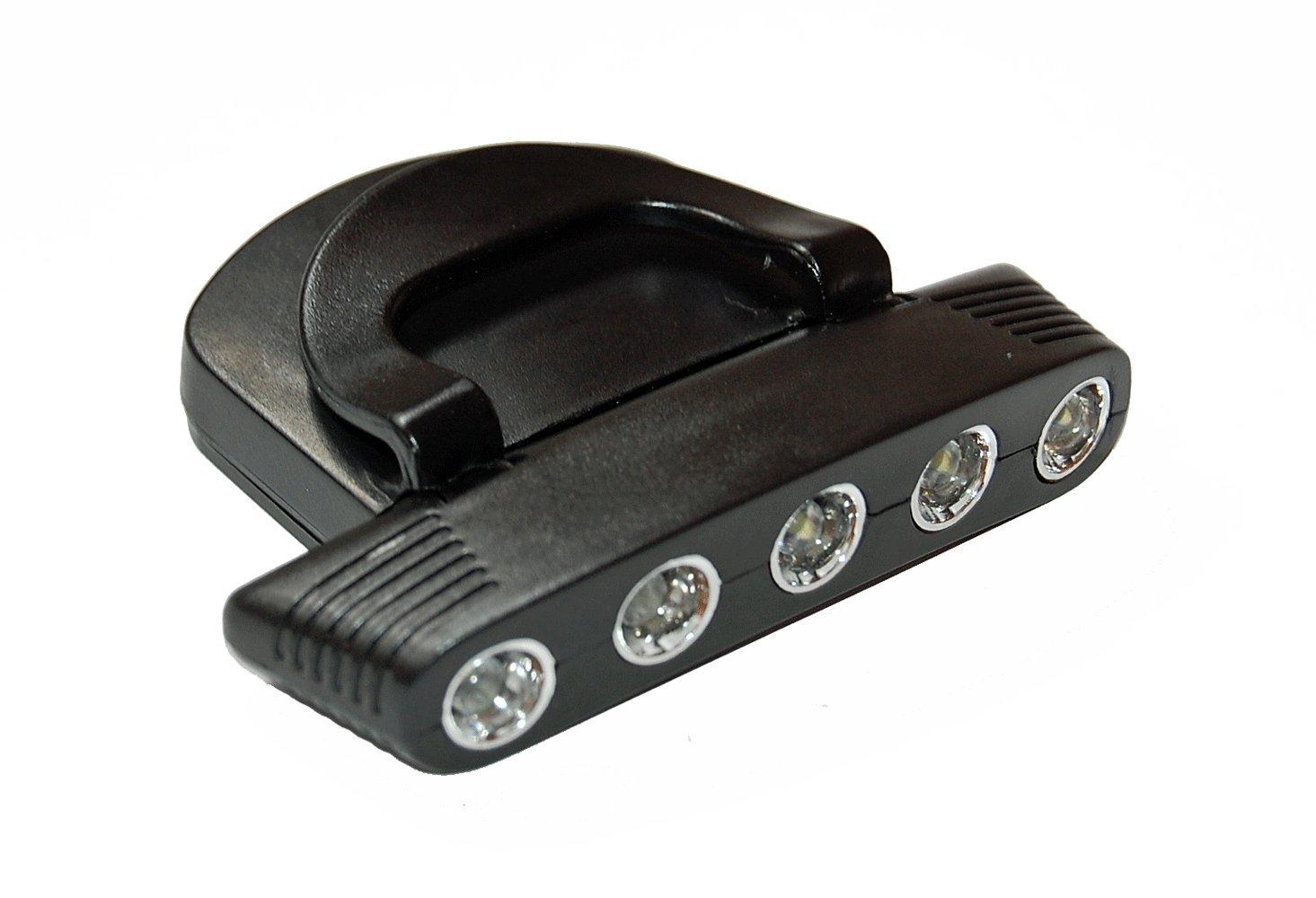 5 LED Cap Light Kopflampe Stirnlampe für Mützen NEU-Verstellbare Beleuchtungswinkel 56-0403095
