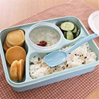 BePrincess Bento Box.Bento Box for Kids,Lunch Boxes for Adults with 4 Compartments.Kids lunch box with Salad Dressing Box. Convenient for Microwave,Leakproof, FDA Approved and BPA Free
