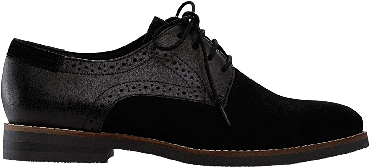 Wide Width Lace-Up Oxford Flats   Oxfords