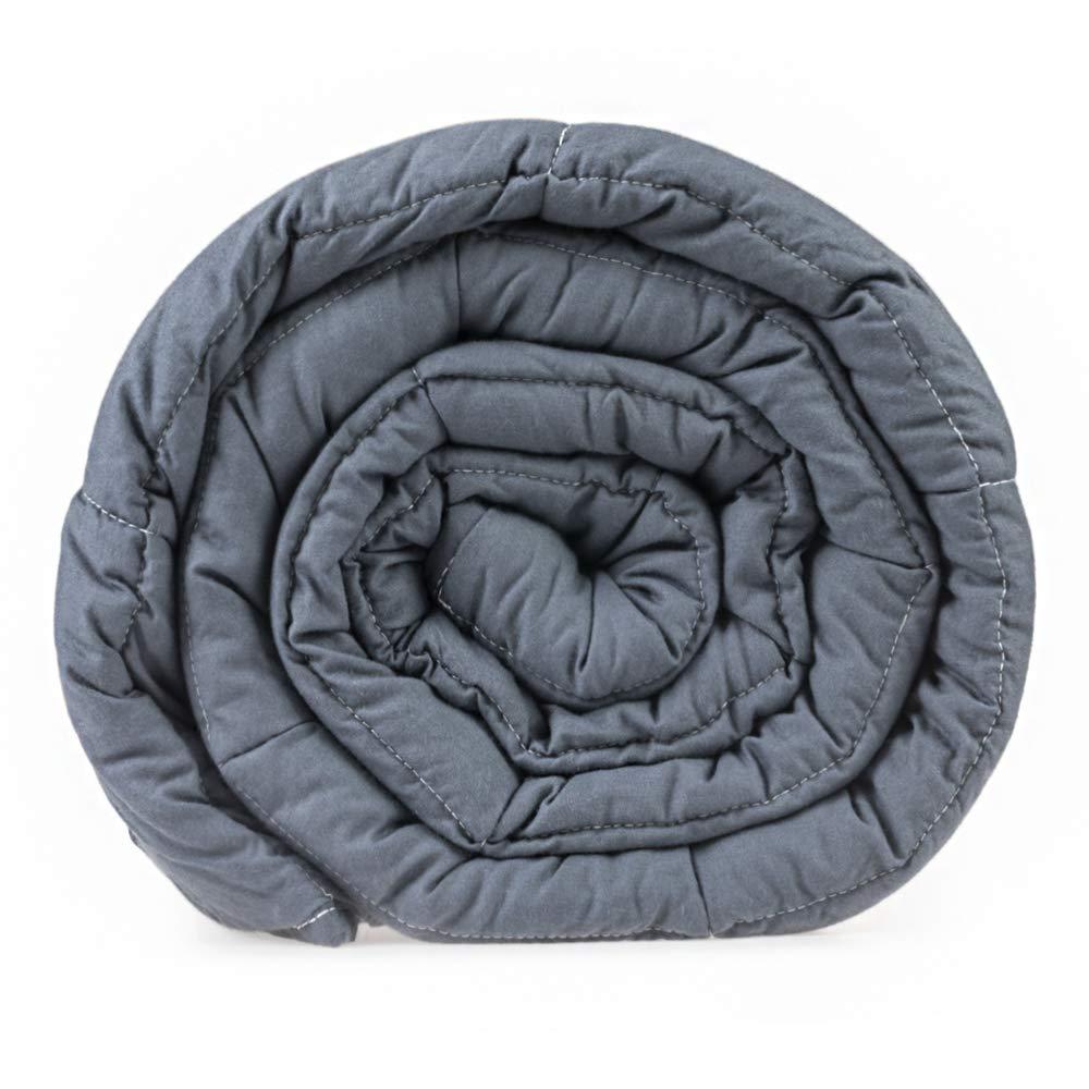 Senso-RexCouverture lestée premium pour adultes, couverture chaude 135x 200cm, 100 % coton, gris, 6 kg - 13.2 lb