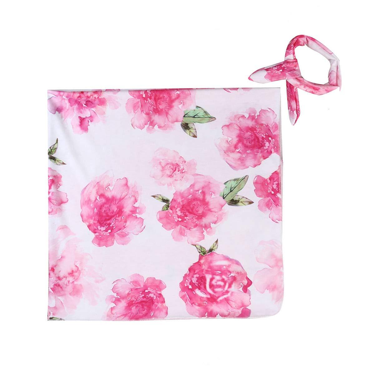 MAINESAKA SLEEPWEAR ベビーガールズ 0 - 3 Months Floral(pink) B07NY14JYQ