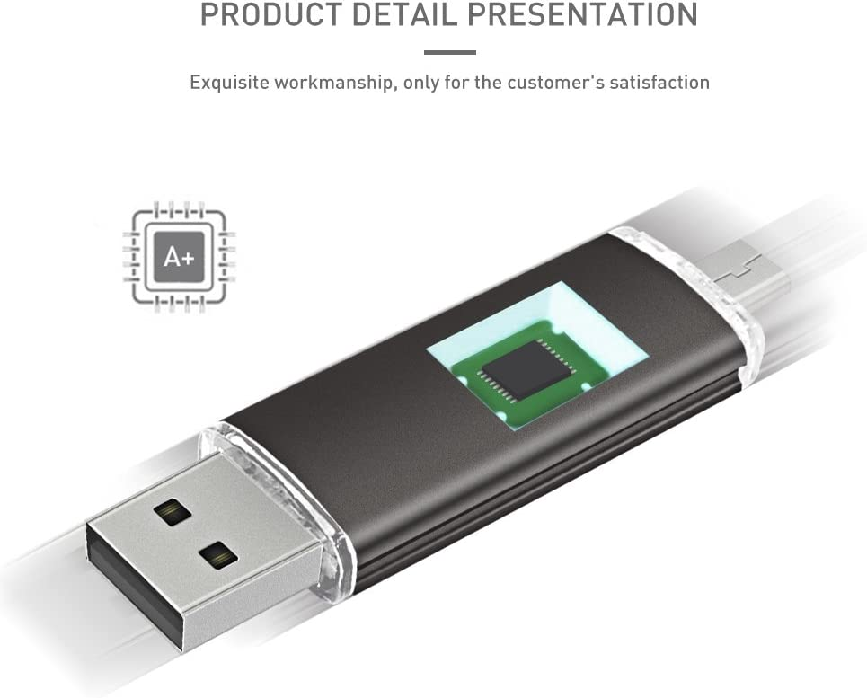 32GB, Gold penobon OTG USB Flash Drive 32GB Memory Stick for Android Phones Pen Drive Jump Drive for Desktop Tablets PC