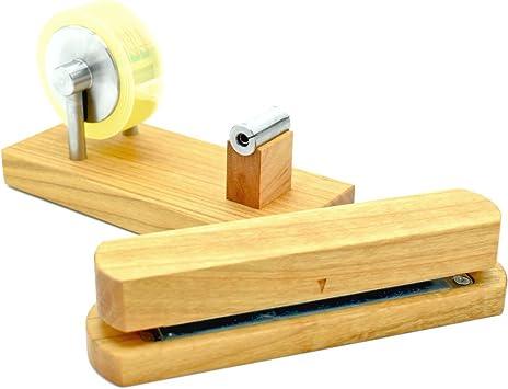 Kirschholz und Metall Locher aus Holz