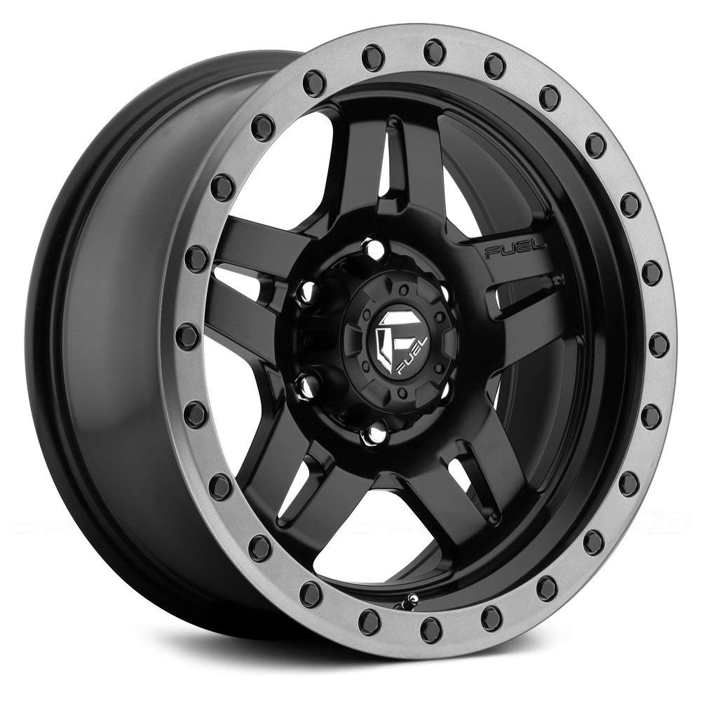 Fuel D557 Anza Сustom Wheel - Matte Black with Graphite Bead Ring 18'' x 9'', 1 Offset, 8x170 Bolt Pattern, 125.1mm Hub