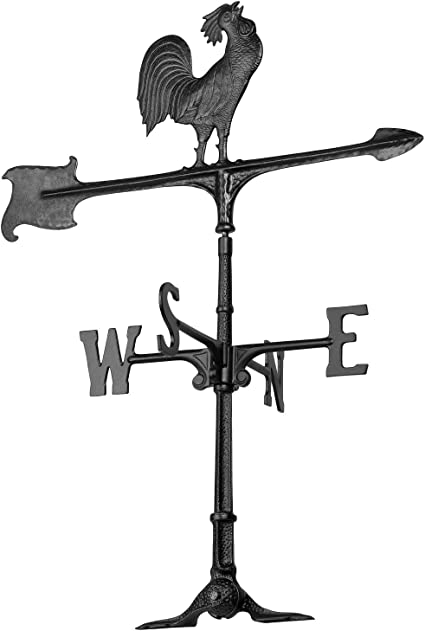 Whitehall Products 24 Rooster Accent Weathervane Renewed 24 Black