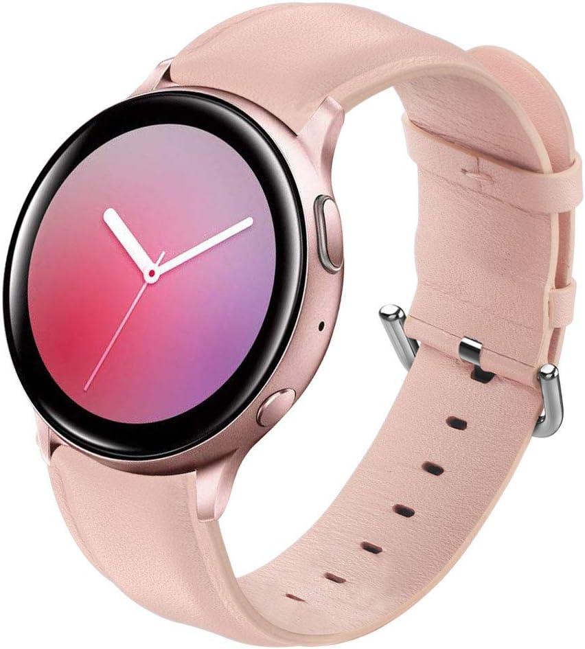 Malla cuero Samsung Galaxy Watch 3 41mm/Active/Active 2 rosa