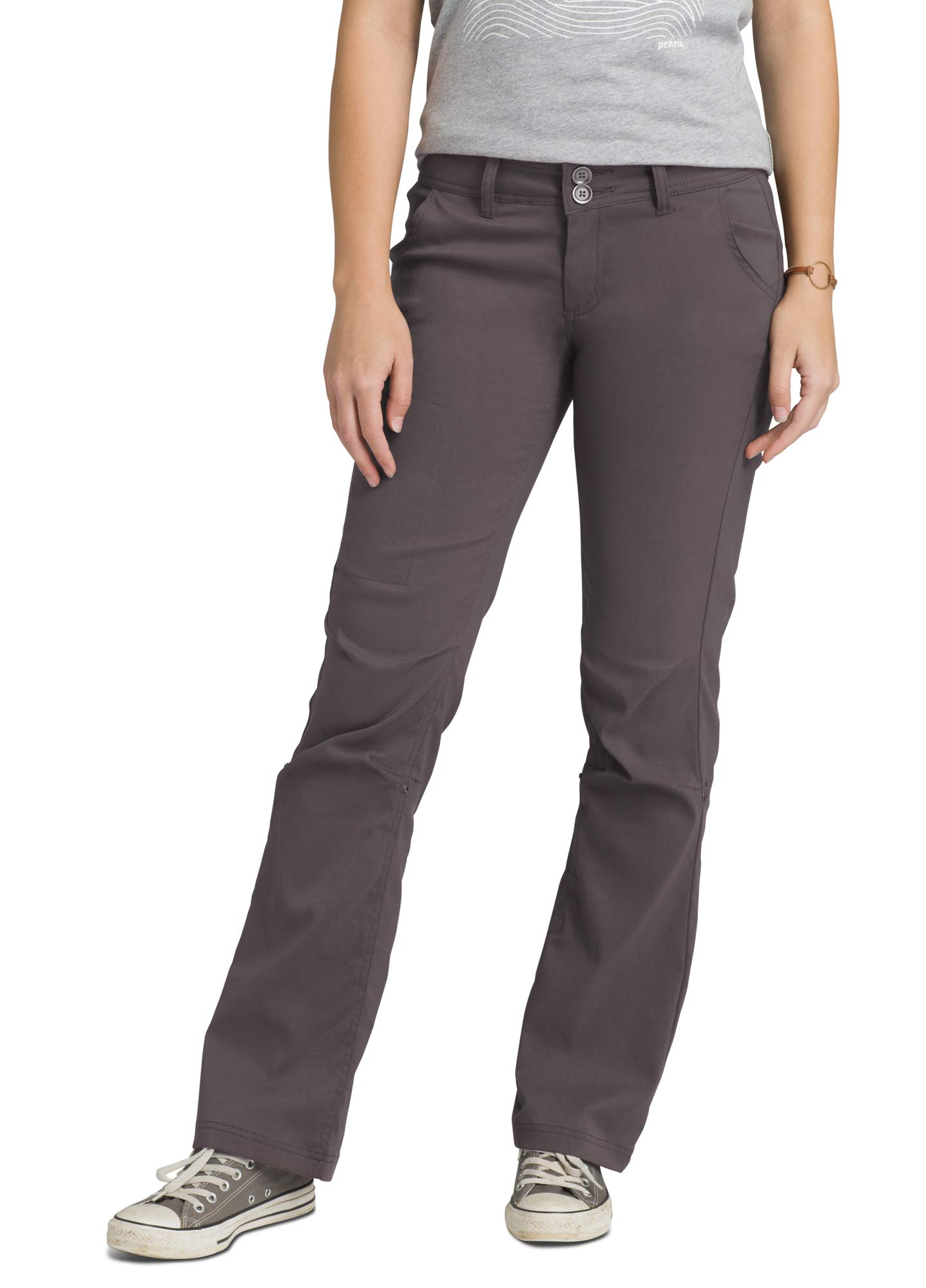 prAna - Women's Halle Roll-up, Water-Repellent Stretch Pants for Hiking and Everyday Wear, Tall Inseam, Moonrock, 6 by prAna