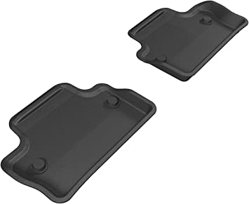 Kagu Rubber 3D MAXpider Front Row Custom Fit All-Weather Floor Mat for Select Volvo XC60//S60 Models Black