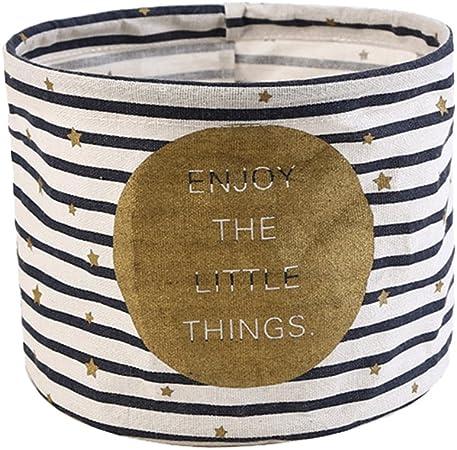 doitsa 1pcs redondo pequeña cesta de almacenaje (tela de algodón ...