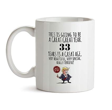 33rd Happy Birthday Gift Mug