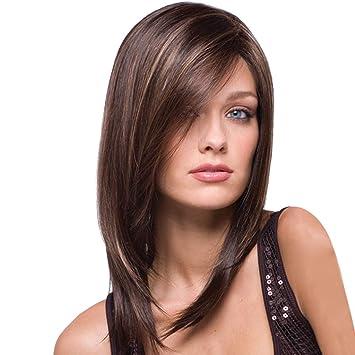 Amazon Com Women Bob Wigs Medium Straight Wine Gold Hair Layered