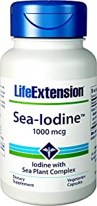Life Extension Sea-Iodine Capsules, 1000 mcg, 150 Veg Caps, Natural Iodine Supplement from Kelp and Bladderwack