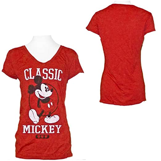 11b0c702aaad Disney's Teen/Junior Fashion T- Shirt Mickey Mouse Classic, XL, Red