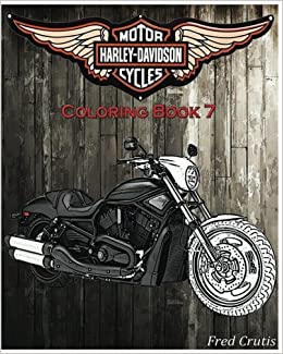 Amazon.com: Motor : Harley-Davidson Coloring Book 7: coloring book ...