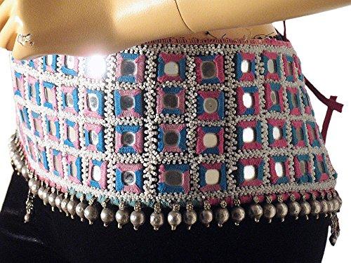 Dance Wear Costume Belt Vintage Rare Kuchi Handicraft Outfit Apparel Metal Beads -