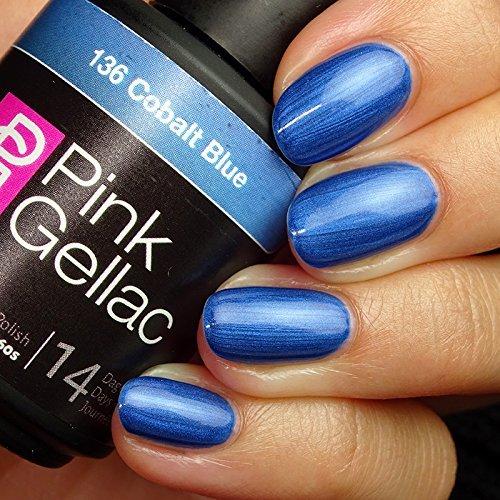 Pink Gellac #136 Cobalt Blue Soak-Off UV / LED Gel Polish  b