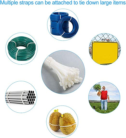 Industrial Durable Strong Wire Ties for Binding Fences 50PCS Cable Zip Ties Heavy Duty 24 Inch Strong Large Cable Wire Ties Awnings Tying Branches Bundling of Crops Fixed Water Pipes