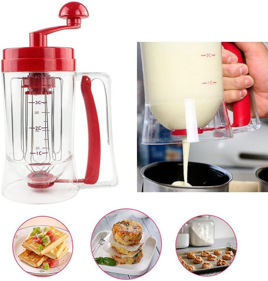 zhizu Perfect Manual Pancake Batter Dispensador perfecto Cupcakes ...