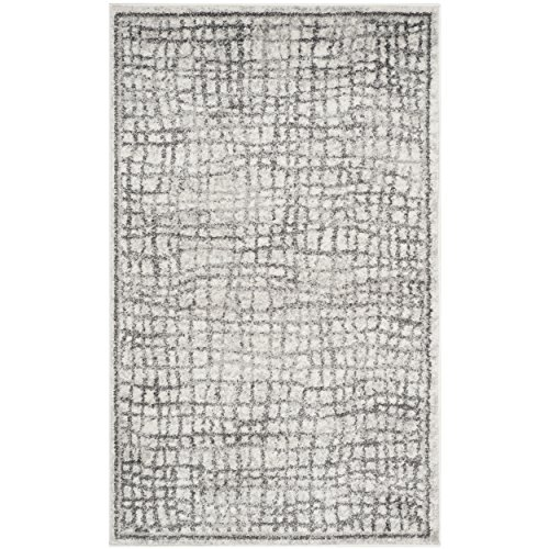 Safavieh Adirondack Collection ADR103B Silver and Ivory Modern Distressed Area Rug (2'6