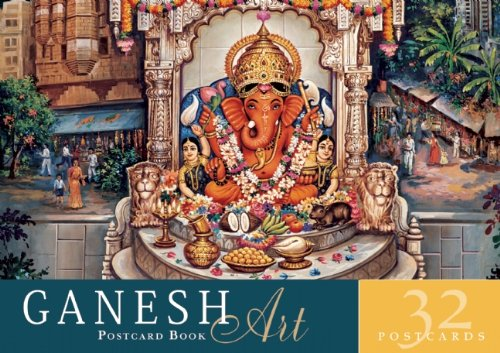 Ganesh Art Postcard Book: 32 Postcards