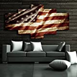 Yatsen Bridge American Flag Painting 5 Piece