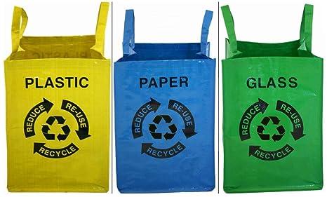 Proteam reciclado bolsas, juego de 3