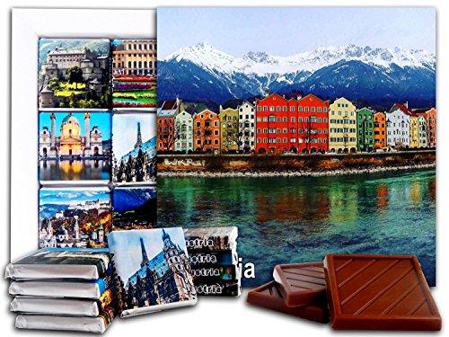 DA CHOCOLATE Candy Souvenir AUSTRIA Chocolate Gift Set 5x5in 1 box (River)
