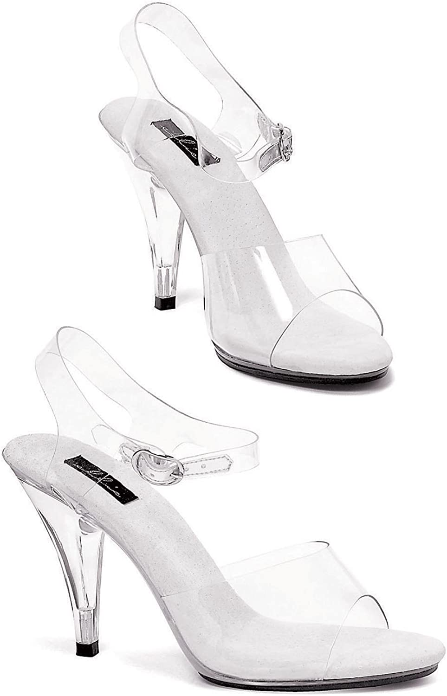Ellie Shoes Women's 4 Inch Heel Clear Sandal