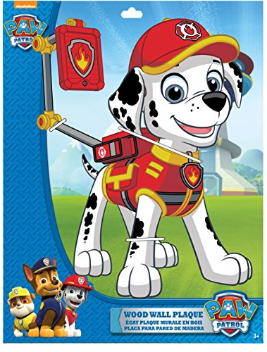 Edge home Products Marshall Paw Patrol 13 Inch 2-Layer MDF Diecut Plaque, White for $<!--$15.52-->