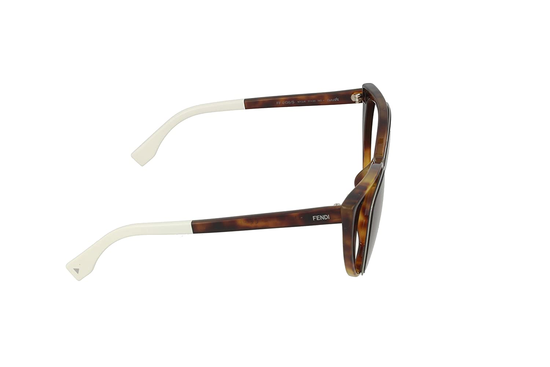 c25bee41c5a0 Amazon.com  Fendi Women s Cutout Cat Eye Sunglasses PARADEYES FF 0136 S   Fendi  Clothing