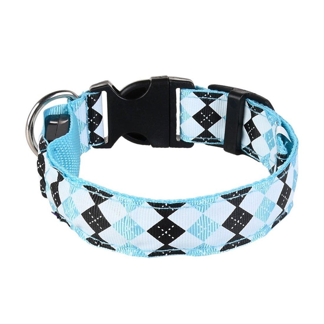 TLMY Pet Led Light Dog Collar Light Collar Dog Belt Pet Chain (color   bluee, Size   M)