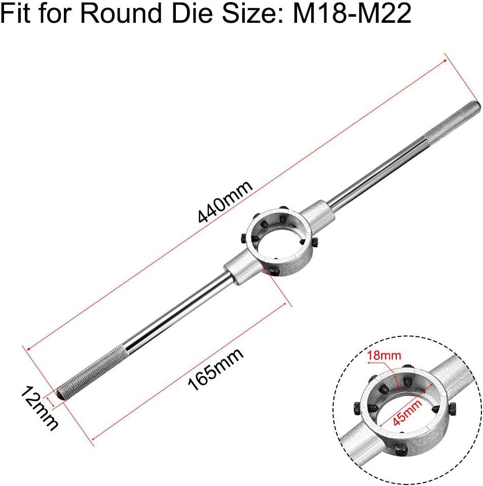 sourcing map 45mm ID Llave ajustable de soporte de troquelado redondo para M18-M22 Troquel redondo