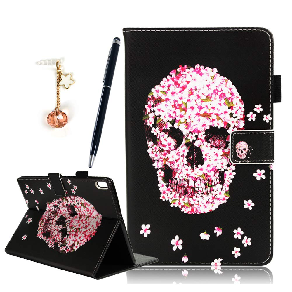 """Lenovo Tab 4 10 Plus Case - Stand Cover PU Leather Wallet Flip Case with Card Slots Stylus Holder for for Lenovo Tab 4 10.1"""" Plus Tablet 2017 Release, ,with Stylus Pen & Dust Plug - Blue Butterfly MOTIKO"""