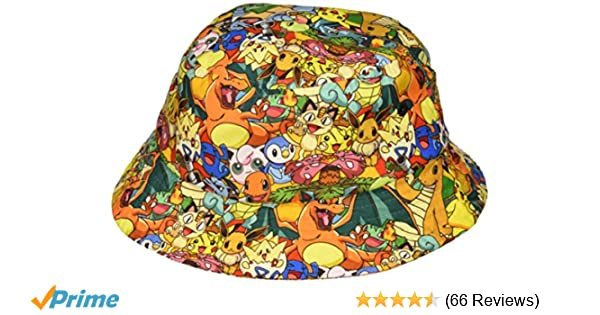 Amazon.com  bioWorld Pokemon All Over Print Sublimated Bucket Hat  Toys    Games ed8b0ed7697d