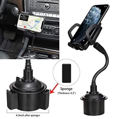 MOTOBA Adjustable Gooseneck Cell Phone Mount Stand Car Cup Drink Holder, 360 Degrees Rotation Car Cradle for iPhone, Samsung Galaxy, Huawei, etc. [5Bkhe1006522]