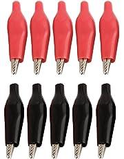 5 pares negro y rojo de pruebas eléctrica pinzas de cocodrilo sonda térmica