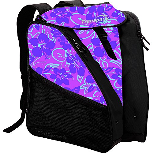 Transpack XTW Women's Ski/Snowboard Boot and Gear Bag Backpack (Pink Floral) (Bag Pink Snowboard)
