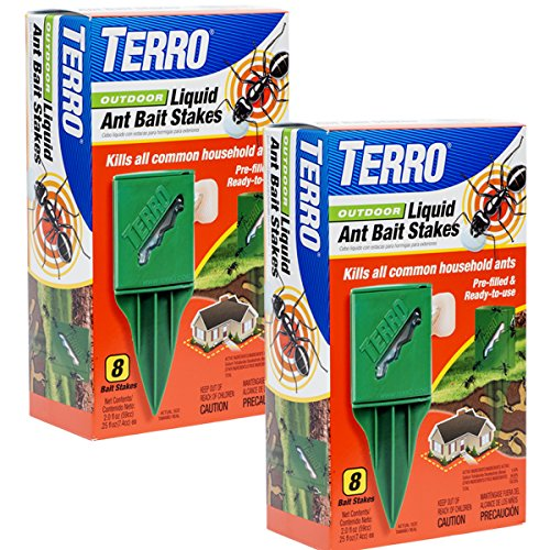 Terro T1812-2 Outdoor Liquid Ant Killer Bait Stakes (2