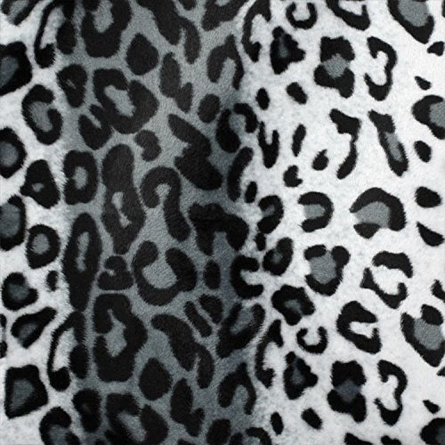 Snow Gray Leopard Velboa Faux Fur Fabric - Sold By The Yard - 58