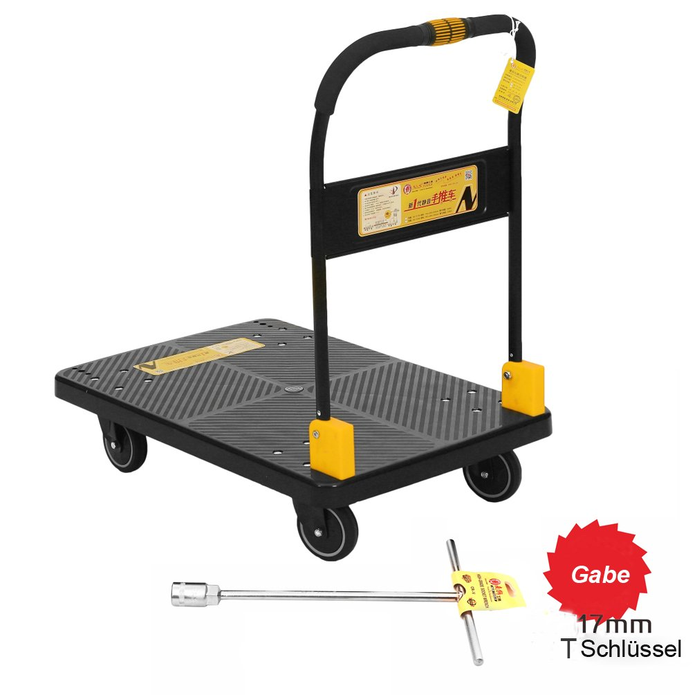 Mute N & S Platform Truck 350kg Heavy Duty One Hand Folding Truck Cart with Wheels Platform Trolley N&S