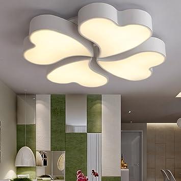 Arbeitszimmer farbe  Deckenleuchte - Einfache und moderne Herzförmigen Kreative LED-Farbe ...