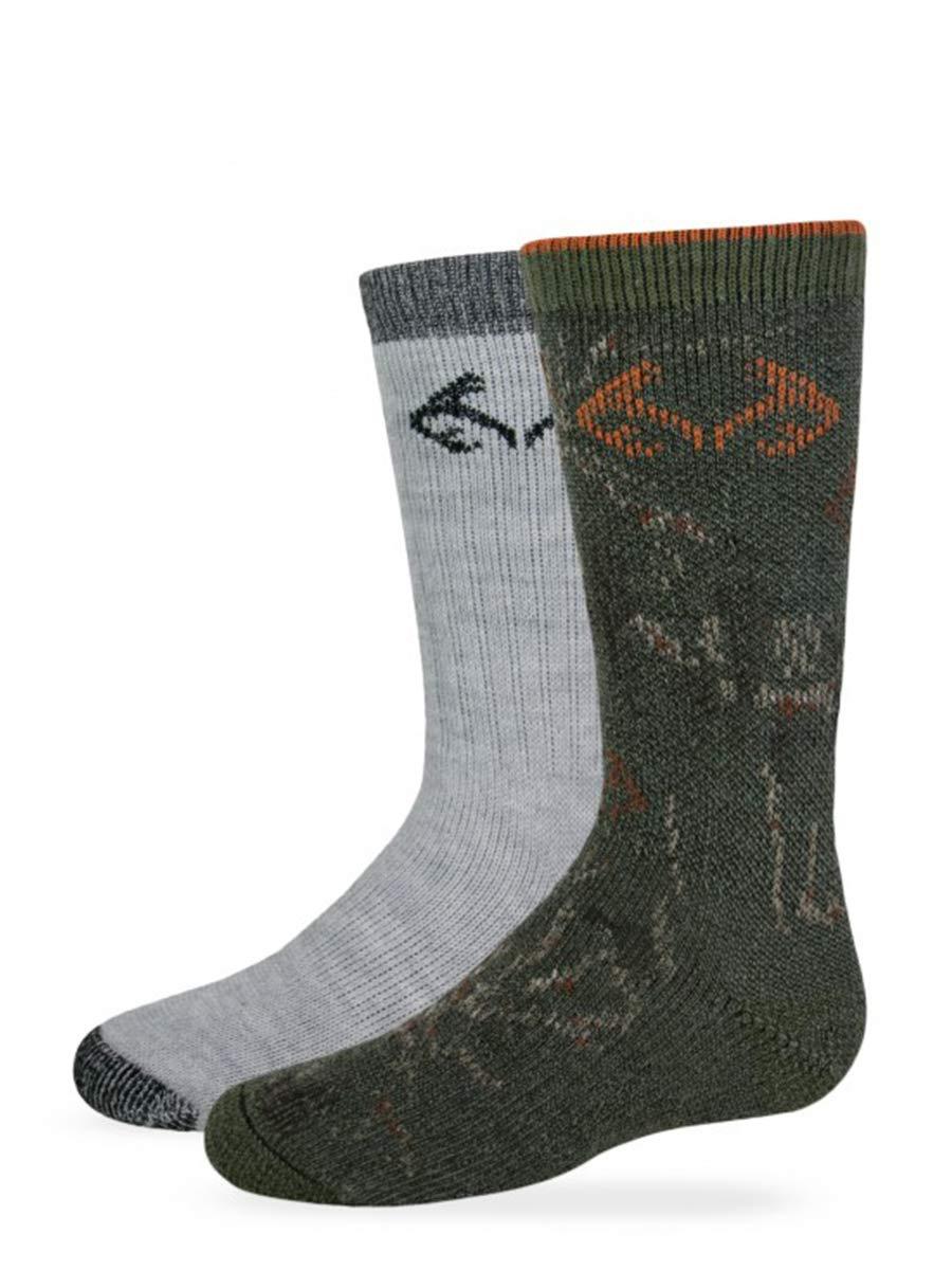 Realtree Boys Camo Boot Socks, Olive, Small by Realtree