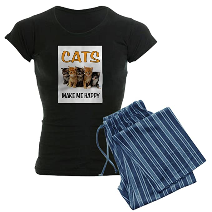 Amazon.com: CafePress feliz gatos pijama – diseño de para ...