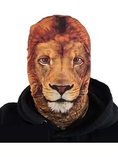 Adult Kids Big Cat Lion Tiger Jungle Fancy Dress Carnival Book Week Fluffy Mask