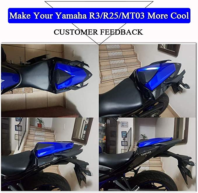 Topteng Rear Seat Cowl,Motorcycle Rear Passenger Pillion Solo Seat Cowl Hard ABS Pad Motor Fairing Tail Cover for B-M-W S1000RR 2009-2014